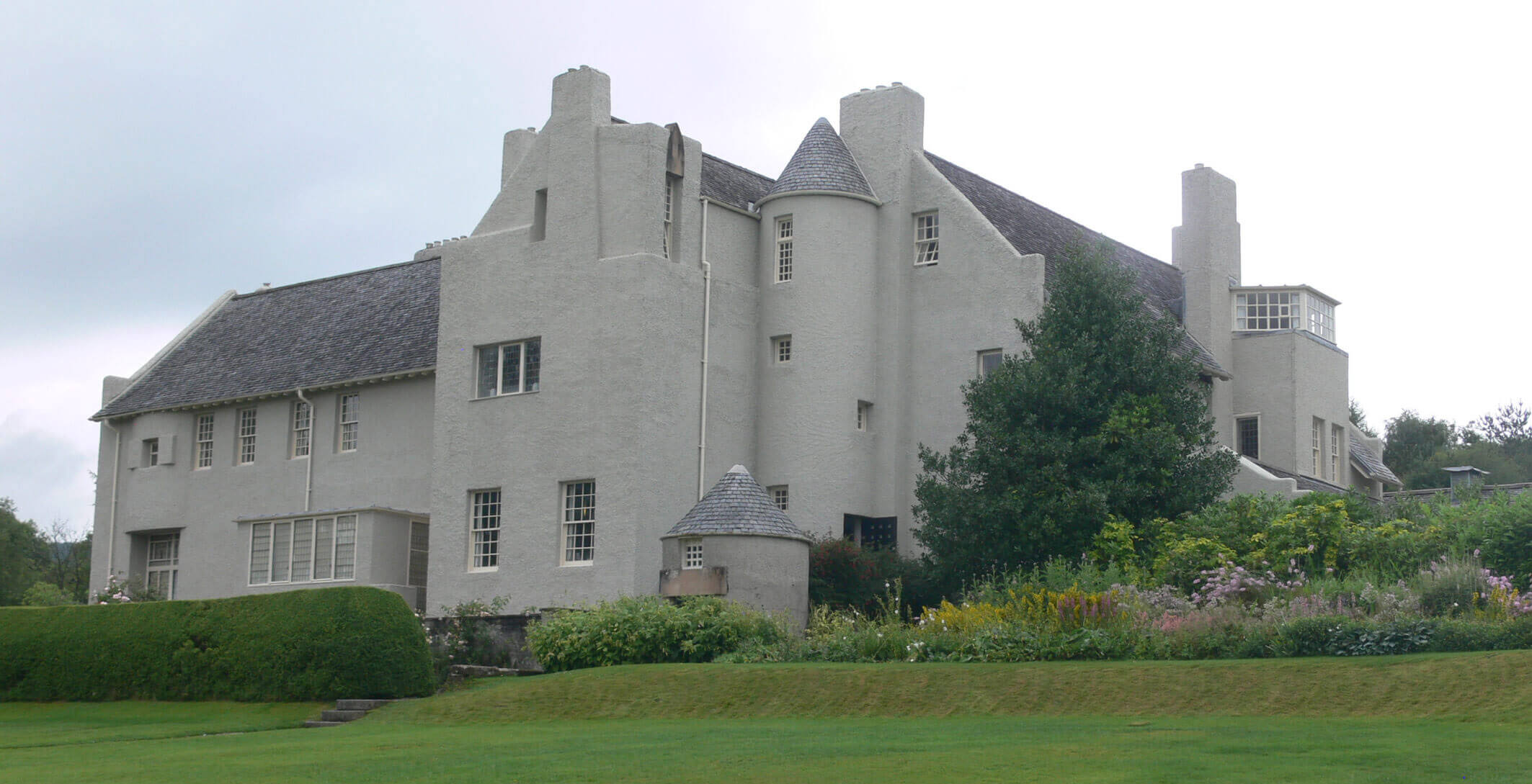 Hill House in Helensburg, Schottland, Charles Rennie Mackintosh